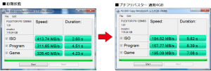ple120GB AS SSD copy bench 比較