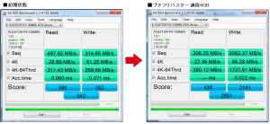 ple120GB AS SSD 比較